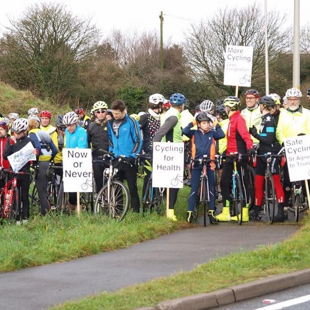 Chiverton Cross Bike path campaign..jpg