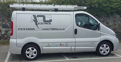 ADC Electrical's Van Driven by Roo in Cornwall