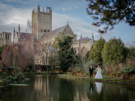 Christmas Wedding at The Bishop's Palace, Wells