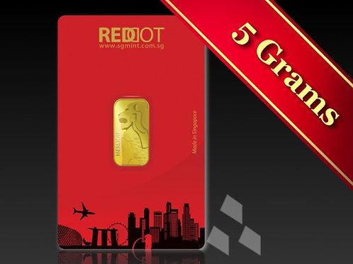 5g Gold Merlion
