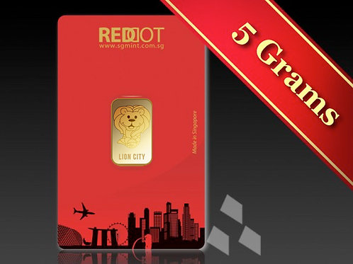 5g Gold Cute Lion City