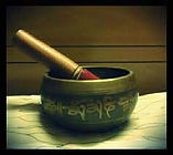 Singing Bowl during Reiki Session.  Sound Therapy
