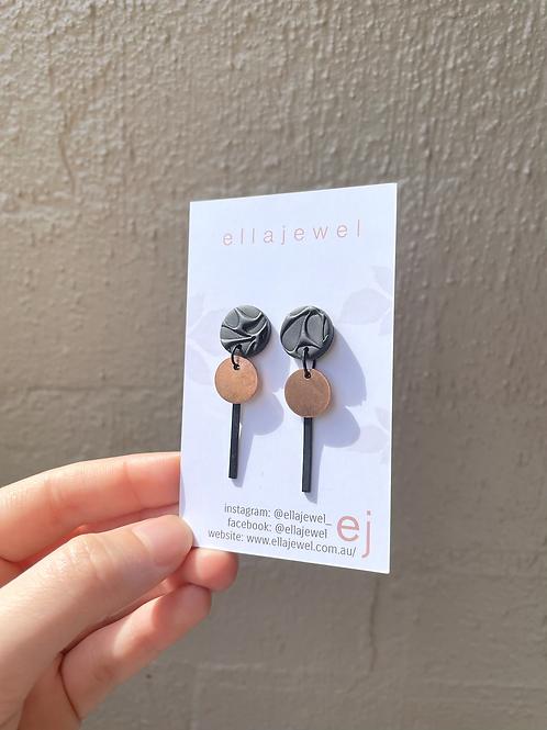 copper drop earring