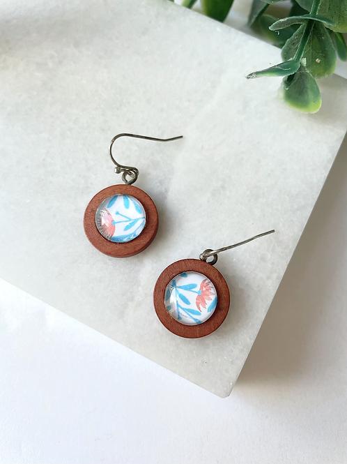 wooden earring