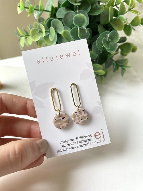 brass drop earring