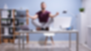 be well - virtual wellness - man on desk
