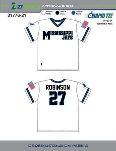 31776-21 ESA Jays Baseball WHITE R4074A