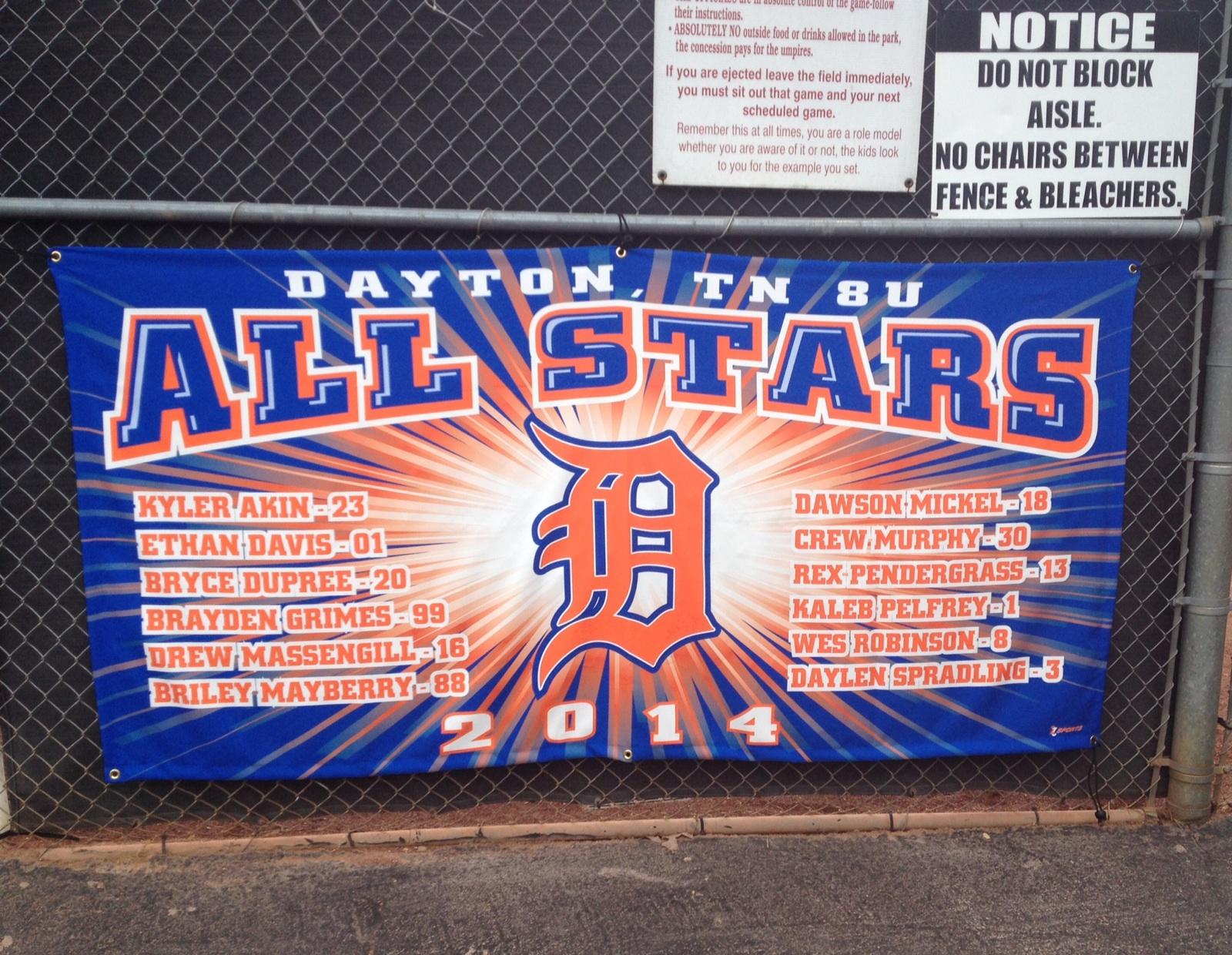 Dayton All-Stars 8U Banner 2014