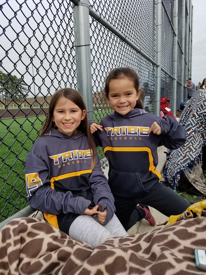 Little sisters supporting their brothers in our T4040 hoodies.