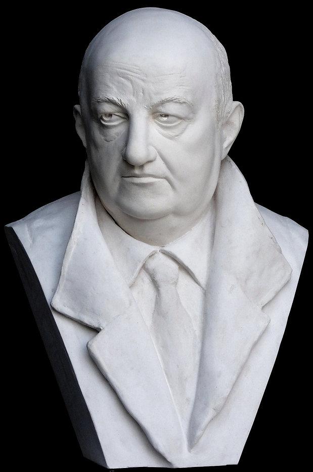 Portrait, sculpture, marble, Bertrand Blier, actor, cinéma, atelier ROMEL