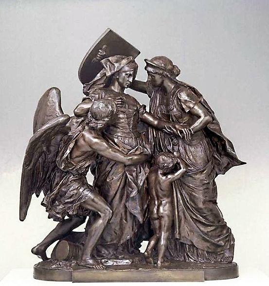 La Suisse secourant l'Alsace, Bronze. Auguste Bartholdi - . Musée Bartholdi, Colmar, restauration