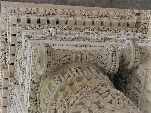 Chapiteau corinthien, Louvre, Paris, Atelier de sculpture Romel, Taille de pierre