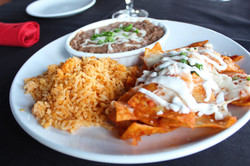 Red sauce Chilaquiles
