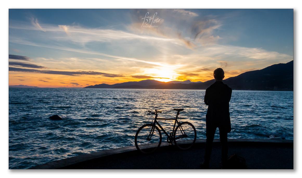 Sunset over Bowen Island
