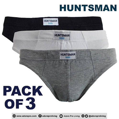 Men's 3-in-1 Cotton Briefs Design # HM006