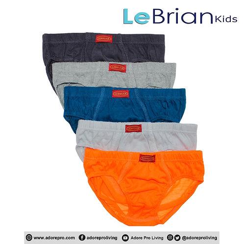 Kids 3-in-1 Cotton Hipster Brief Design # L5804