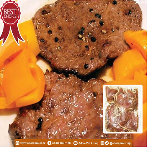 Frozen Sliced Black Pepper Beef / 300G