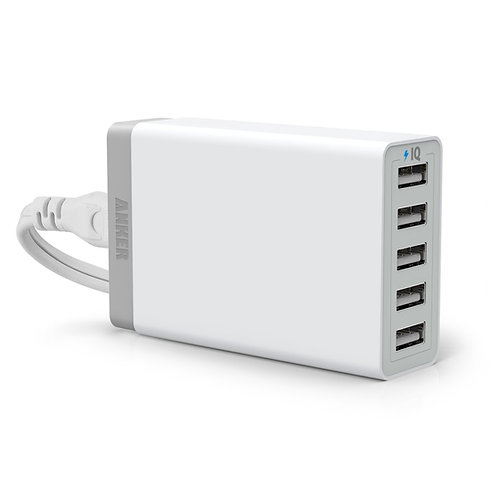 Anker PowerPort 5 Lite 5-Port USB Desktop Charger with PowerIQ Technology