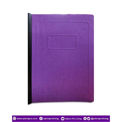 Morroco Folder with Slide / Short / Violet