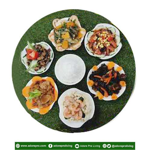 6-Vegetables + Rice Set Meal A