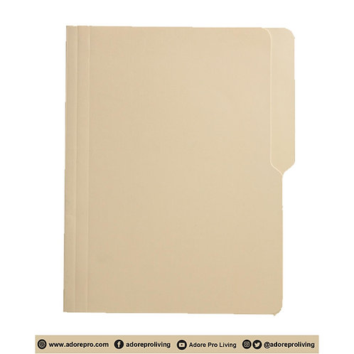 Light Yellow Folder: 14 Pts / 8-1/2 x 11 / Letter
