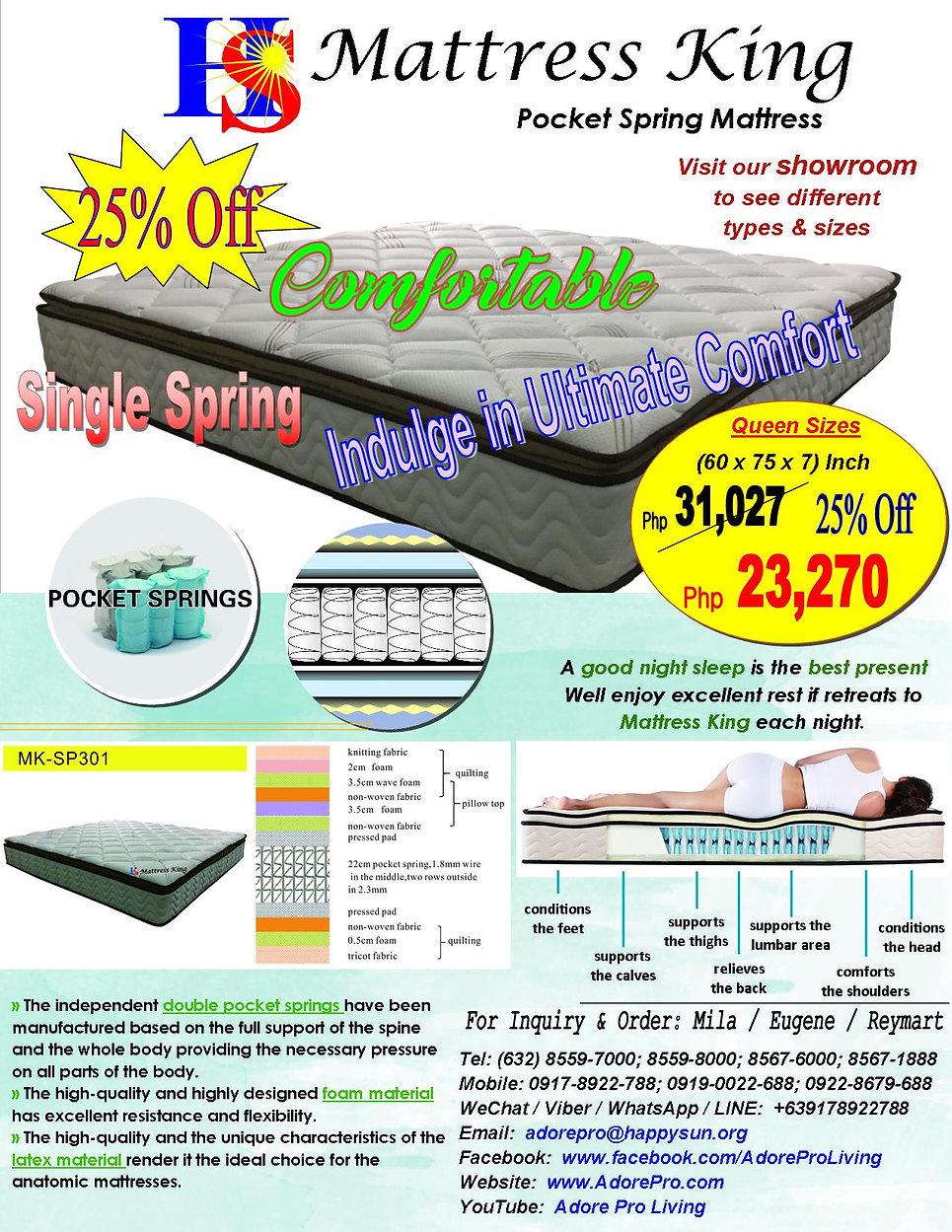 MattressKing_PocketSpring_MK-SP301_Sales