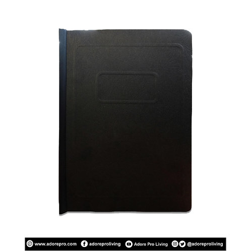 Morroco Folder with Slide / Short / Black
