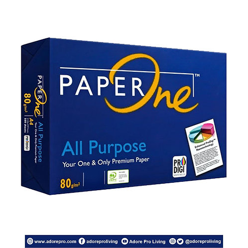 Paper One Copy Paper / 80 GSM / S-24 / Long / White