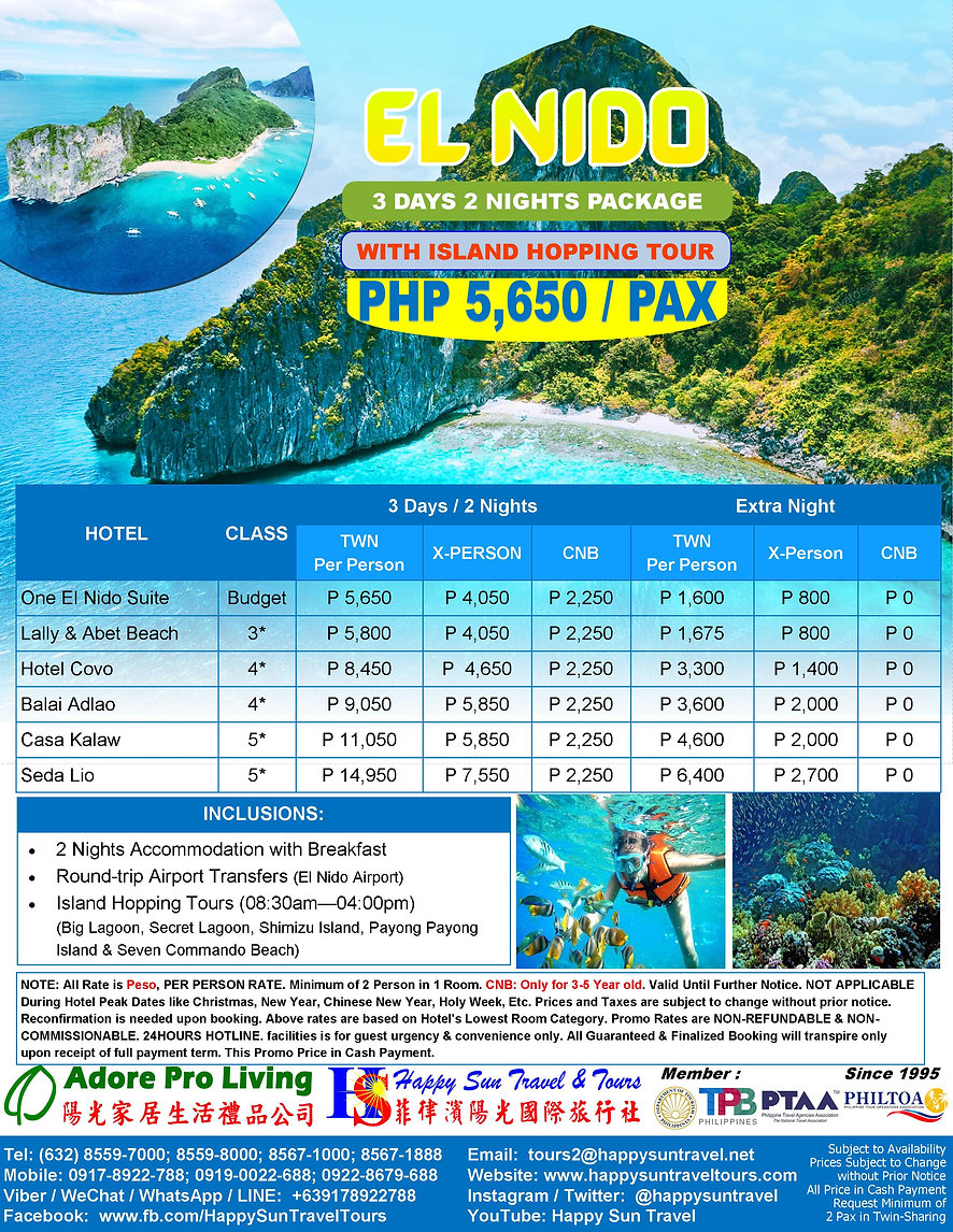 3.PHP5650_3D2NElNidoPkgWithIslandHopping