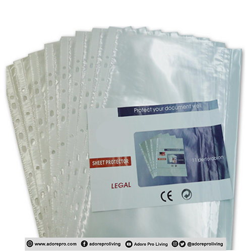 Clear Sheet Protector / Long / 100's