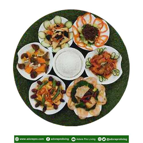 6-Vegetables + Rice Set Meal B