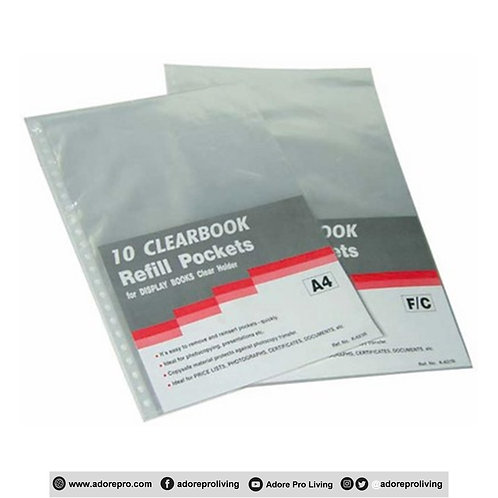 Clearbook Refill Pockets / A4  / 10's