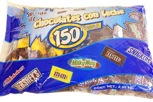 Hershey's All Chocolate Pieces - 150Pcs 5.6 Lb Bag