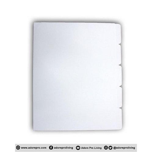 Bristol Divider / A4 / White / 5's