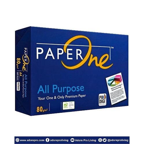 Paper One Copy Paper / 80 GSM / S-24 / Letter / White