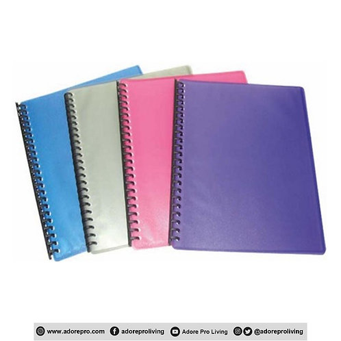 Clear Book / Refillable / A4 / 20 Sheets