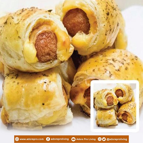Frozen Sausage Puff with Cheese  / 4 pcs per pack