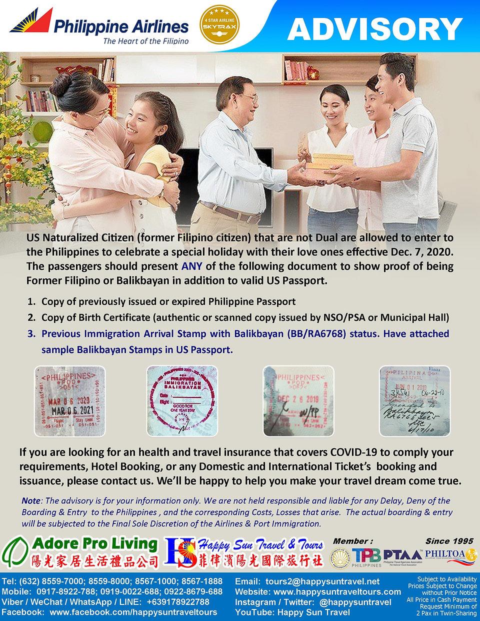 P1_US NaturalizedCitizen_BalikbayanToPH_