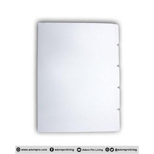 Bristol Divider / Letter / White / 5's