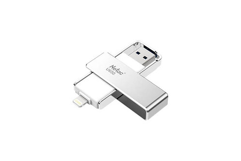Netac U650 64GB Swivel USB 3.0 Flash Drive with OTG Lightning Connector