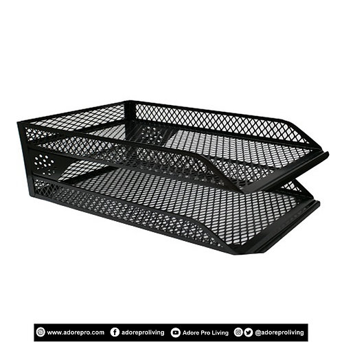 In/Out Tray / Metal / 2 Layers