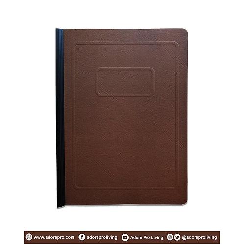 Morroco Folder with Slide / Short / Brown