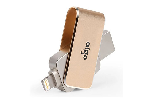 Aigo 64GB Swivel USB 3.0 Flash Drive with OTG Lightning Connector