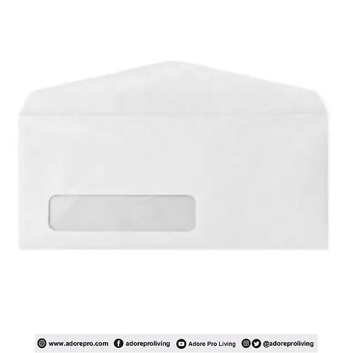 Window Envelope # 10 / White / 10pcs Per Pack