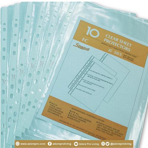 Seagull Clear Sheet Protector / 305B / Legal / 10's