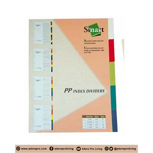 P.P. Index Divider / Assorted Color / A4 / 5's