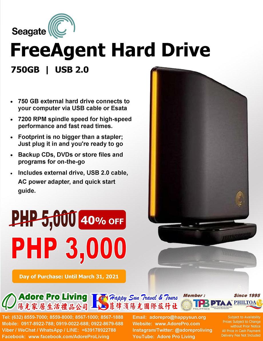 Seagate_Free Agent Hard Drive 750GB USB