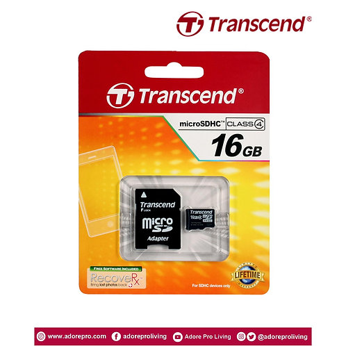 Transcend Micro SD Memory Card Assorted / 16GB