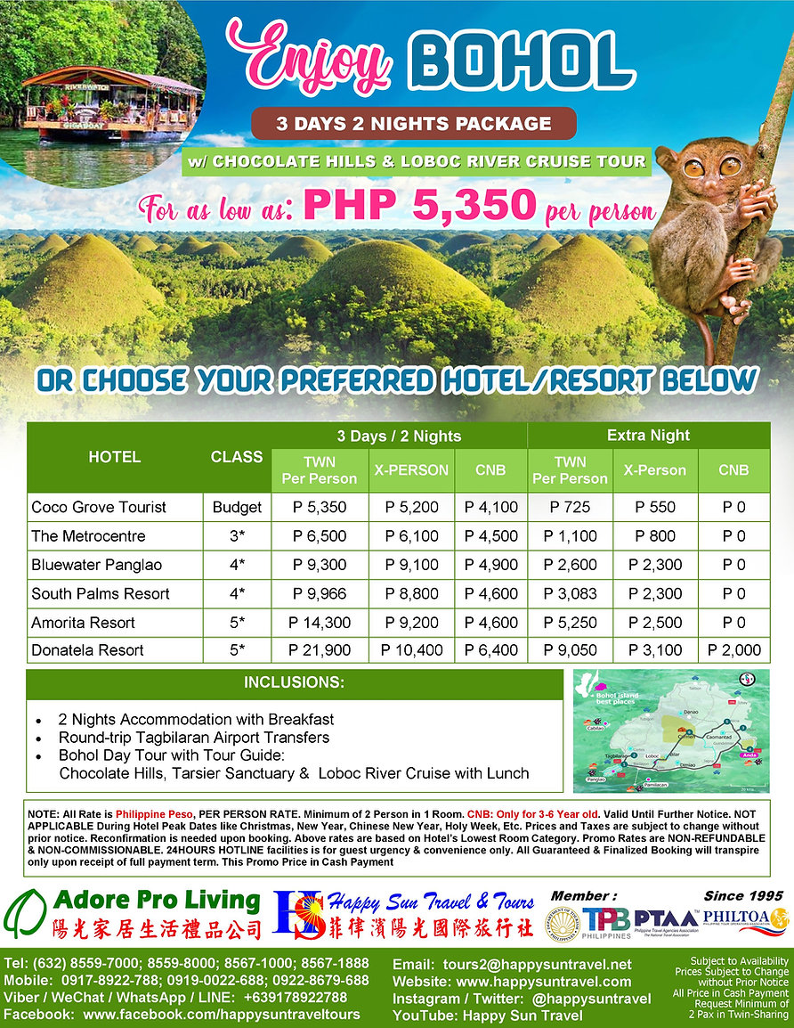 3.PHP5350_3D2NBoholPkgWithChocolateHills