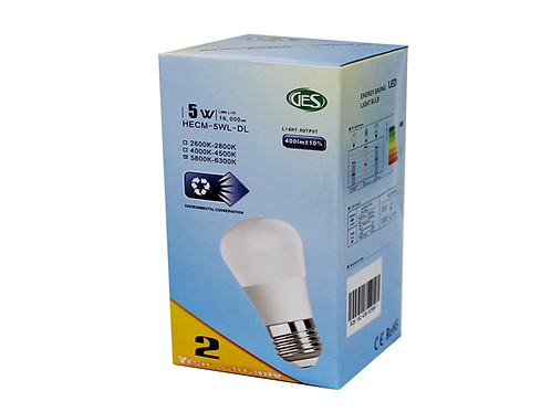 GES LED Residential Bulbs HECM - 5WL (Set of 4)